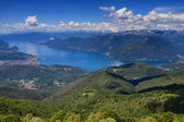 Lago Maggiore as seen from Monte Lema — Stock Photo