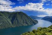 Monte Bre - Lookout over Lake Lugano — Stock Photo