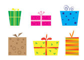 Set with gift boxes — Stock Vector