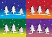 Christmas tree — ストックベクタ