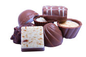 Chocolats sur un blanc — Photo