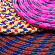 Colourful climbing rope — Stock Photo