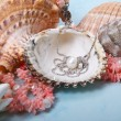 Stock Photo: Jewelry pearls and corals