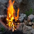 Stock Photo: Fire among stones
