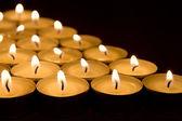 Many tea light candles  — Stock Photo