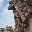 Statue on Charles Bridge — Stock Photo