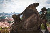 Cherub statue in Prague — Stock Photo