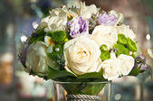 Wedding bouquet in a vase — Stock Photo