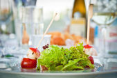 Salad on a table — Stock Photo