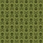 Green Skull — Stock Photo