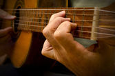 Classical Spanish Guitar Being Played — Stock Photo