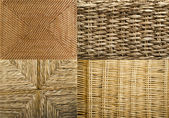 Collection Textures Wicker — Stock Photo