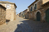 A Street of Castrillo de los Polvazares — Stock Photo