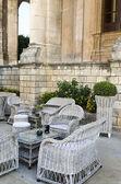 Wicker Armchairs in Noto — Stok fotoğraf
