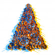 Christmas Tree Thumbtacks — Stock Photo