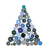 Christmas Tree Buttons — Stock Photo