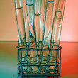 Test Tube Rack. Red — Stock Photo