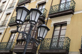 Lampposts and Balconies — Stock Photo