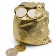 Sack of Coins — Stock Photo