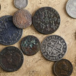 Stock Photo: Old Spanish Coins