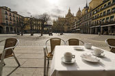 Have a Coffee. Segovia — Stock Photo