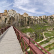 Bridge Across the Huecar Gorge to Cuenca - Stock Photo