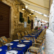 Stock Photo: Dubrovnik. Restaurant on Street