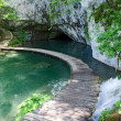 Wooden pathway. Plitvice — Stock Photo