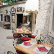 Budva. Restaurant — Stock Photo