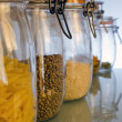 Jars in the Kitchen — Stock Photo