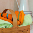 Basket for Towels — Stock fotografie #29788367