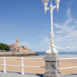 Gijon, San Lorenzo Beach. Vertical — Stock Photo