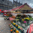 Flower Market. Lubeck — Stock Photo