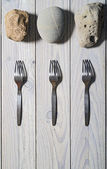 Three forks and three stones  — Foto Stock