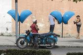 Havana motorcycle — Stok fotoğraf
