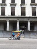 Pedicab on the road  — Stok fotoğraf
