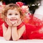 Girl celebrates Christmas — Stock Photo #16297495