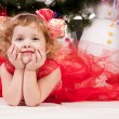 Girl celebrates Christmas — Stockfoto