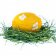 Easter egg on white background - Stock Photo