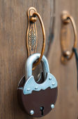 The lock on the door — Stock Photo