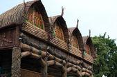 Traditional teepee village — Stock Photo
