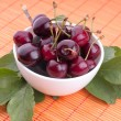 Ripe red cherry — Stock Photo