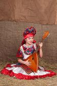 Rosjanka w strój — Zdjęcie stockowe