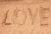 Love message written — Stock Photo