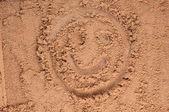 Una cara sonriente de dibujo — Foto de Stock