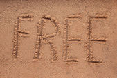 A word 'FREE' — Stock Photo