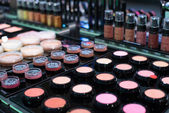 Sammlung von damen kosmetik — Stockfoto