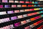 Set of color nail polish. — Stock Photo