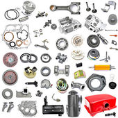 Collection of components power tiller — Foto Stock