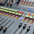 Large Music Mixer desk — Stock Photo #43762951